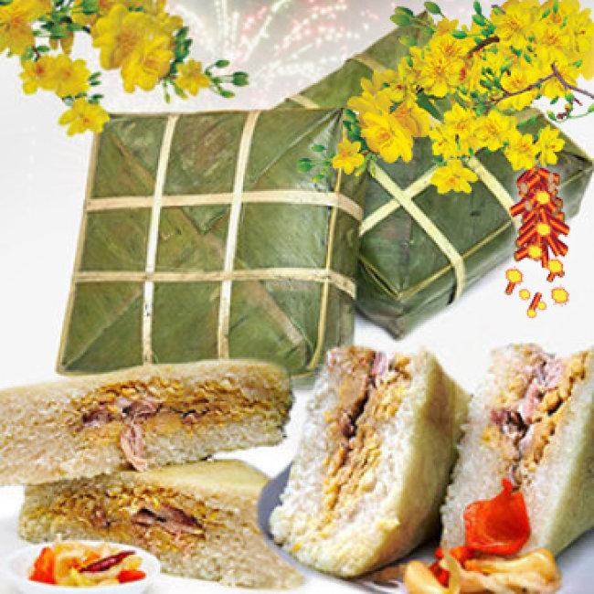 01 Cặp Bánh Chưng Hương Vị Đặc Biệt Từ Hải Dương 1,5 Kg/...