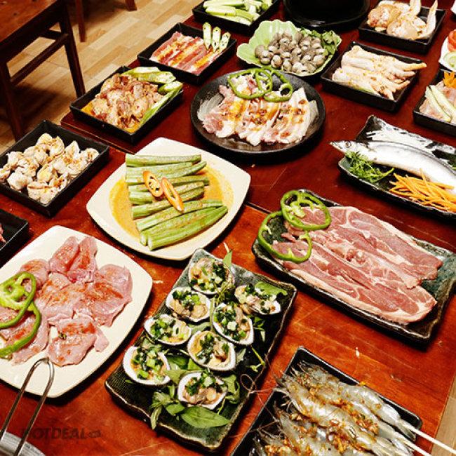 Buffet Trưa BBQ Bò Mỹ/ Úc - Hải Sản - Lẩu Gần 60 Món Tại Nhà...