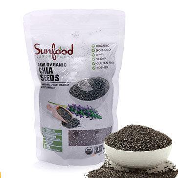 Hạt Chia Dinh Dưỡng Sunfood Nhập Khẩu Từ Mỹ (Đen)