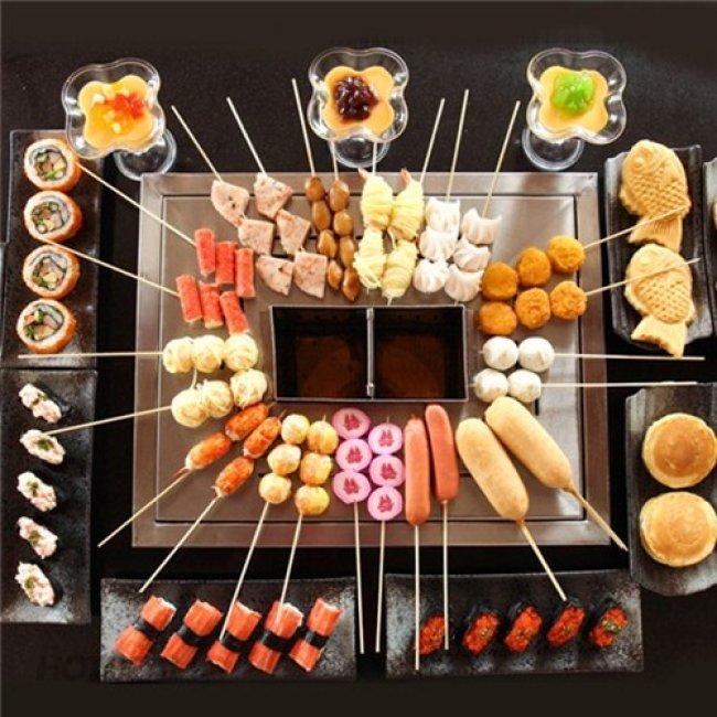 Buffet Xiên Que 75 Món - Hệ Thống Xiên Que