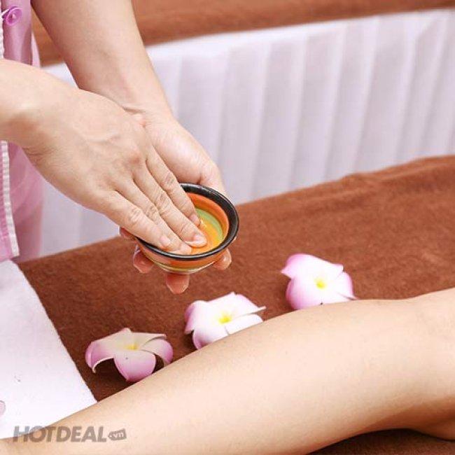 80 Phút Massage Đá Nóng + Xông Hơi Không Giới Hạn - Helen Spa