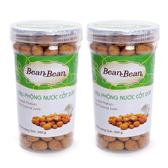 Combo 2 Hộp Đậu Phộng Cốt Dừa Bean Bean 200G/Hũ