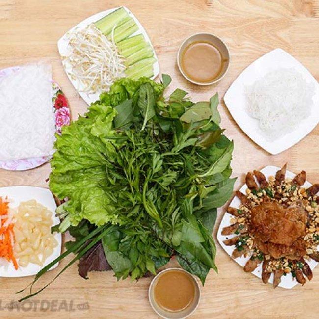 Combo Nem Nướng + Rau Rừng + Sâm Lạnh + Khăn Lạnh Dành Cho 2...