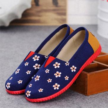 Giày Lười Họa Tiết Hoa Mùa Xuân