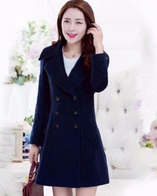 Áo Khoác Dạ Phối Nút Thời Trang Korea