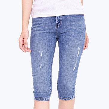 Quần Lửng Jeans Nữ Dạo Phố HD