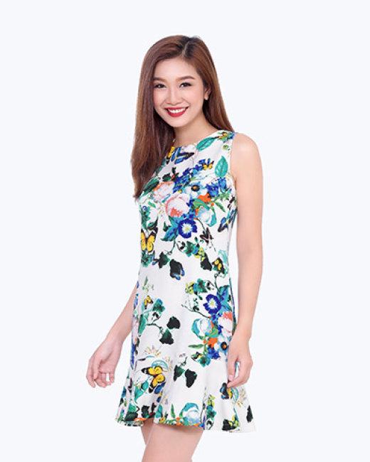 Đầm Họa Tiết Đuôi Cá Đón Xuân-03903-TH Sơn Nguyễn