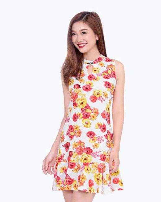 Đầm Hoa Cổ Giọt Nước-086021-TH Sơn Nguyễn
