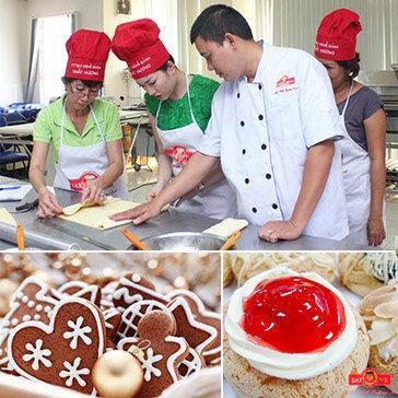 Khóa Học 1 Buổi Làm Bánh Cookies Ngày Tết Và Su Mềm Yukisu Nhật Bản