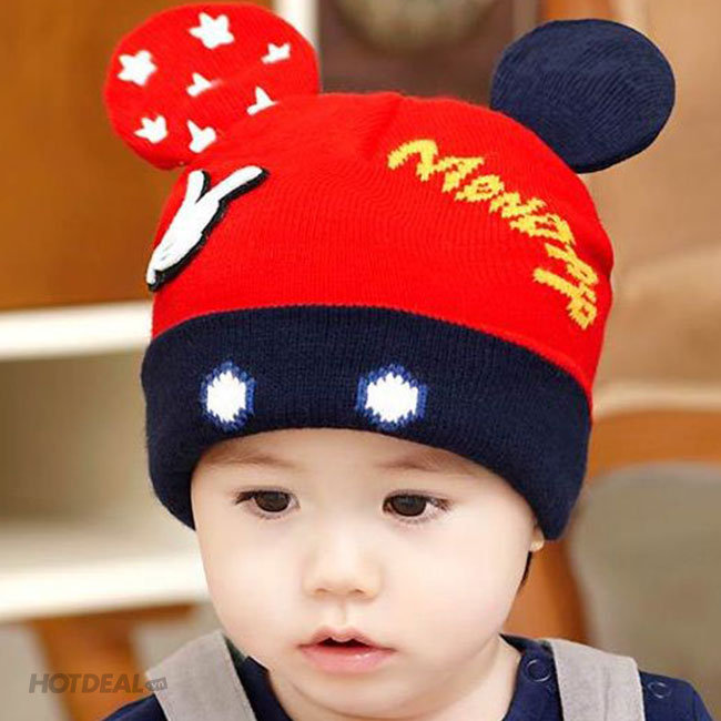 Nón Len Tai Chuột Mickey Cho Bé