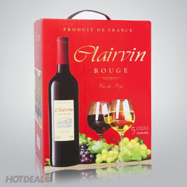 Bịch Rượu Vang Clairvin 3L NK Pháp