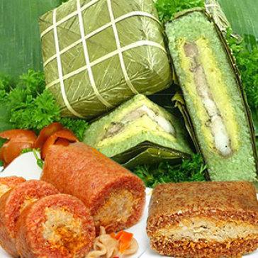 Bánh Chưng/ Bánh Tét Gấc, Chùm Ngây Hoặc Lá Cẩm - Thương Hiệu Gấc Việt
