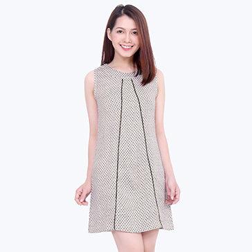 Đầm Suông Bố Len-DD010- TH Quỳnh Vy