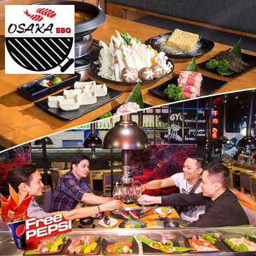 Buffet Lẩu Cao Cấp NH Osaka BBQ - Free Pepsi