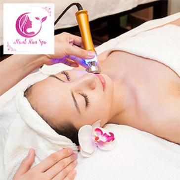 (75') Massage Mặt, Chạy Vitamin C, Đắp Mặt Nạ Collagen, Hút Dầu Nhờn Giúp Da Trắng Sáng, Se Khít Lỗ Chân Lông Tại Hạnh Kim Spa
