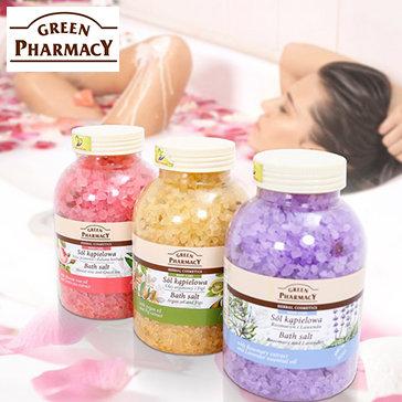 Muối Tắm Tinh Dầu Cao Cấp Green Pharmacy 1300GR NK Ba Lan