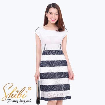 Đầm Dự Tiệc Phối Ren Shibi SB076