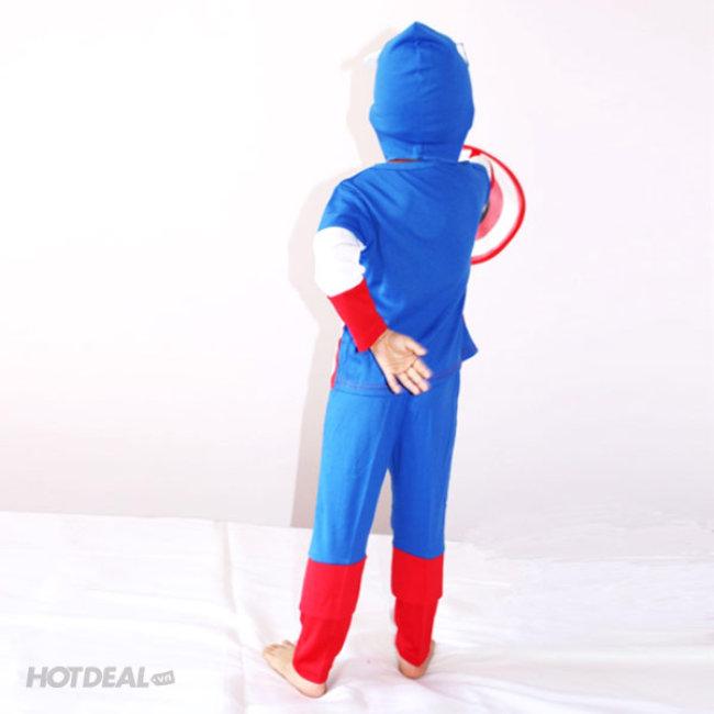 Bộ Đồ Captain America Cho Bé