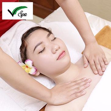 Massage Body Nam & Nữ: Massage kết hợp Nhật – Thái - Thụy Điển độc quyền tại V'Spa + Massage Cổ Vai Gáy – Tặng Xông Hơi Không Giới Hạn