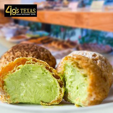 12 Bánh Su Trà Xanh/ Vani/ Chocolate Hoặc Bánh Su Nhân Custard Tại Bakery 4Gs Texas