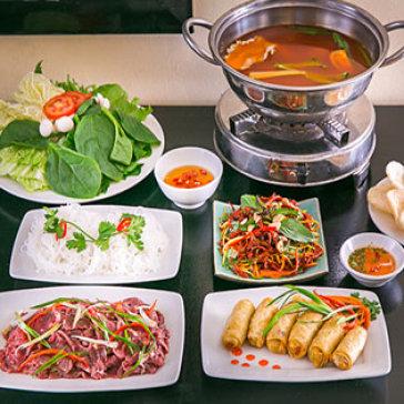 Lẩu Bò Chua Cay + Gỏi Khô Bò + Chả Giò Bắc Thảo Nấm - Ah! Ngon Quán