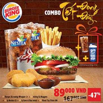 Hệ Thống Burger King – Combo Tết Hoành Tráng Cho 2 Người + Quà Tặng Khủng