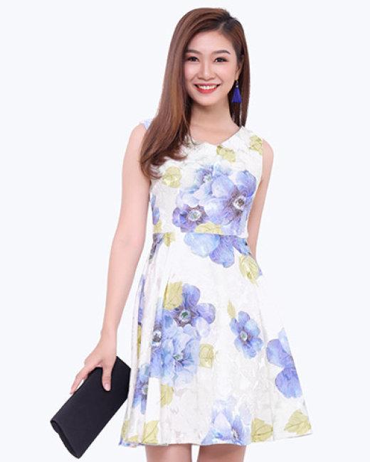 Đầm Gấm Dự Tiệc Shibi SB081