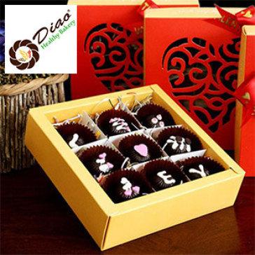 Hộp Quà Chocolate Cao Cấp 09 Viên (135gr) Hương Vị Nhân Tự Chọn Tại Diao Heathy Bakery
