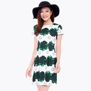 Đầm Suông Công Sở Họa Tiết Daisy