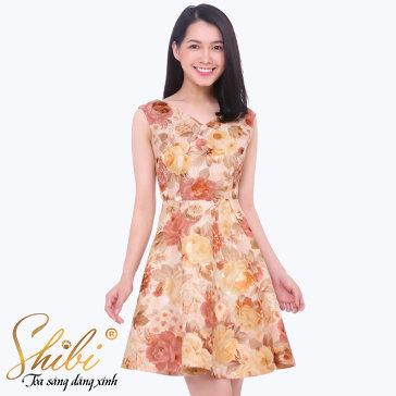 Đầm Gấm Dự Tiệc Cao Cấp Shibi