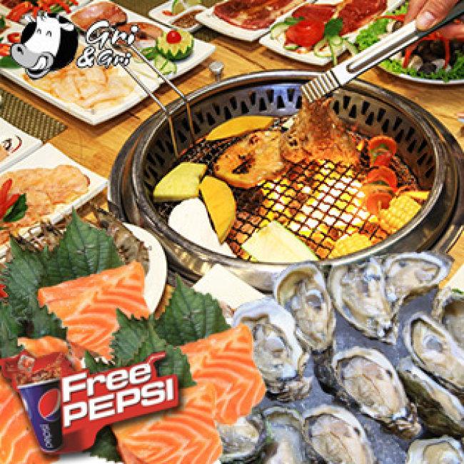 Buffet Lẩu Nướng Không Khói- Full Menu- Nhà Hàng Gri & Gri Time City -...