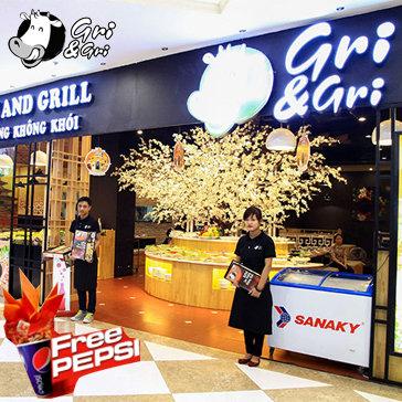 Buffet Lẩu Nướng Không Khói - Tặng Pepsi - NH Gri & Gri Time City