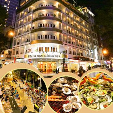 Buffet Tối Nướng Hơn 50 Món Cuối Tuần Tại KS Hương Sen 3* - Áp Dụng Lễ