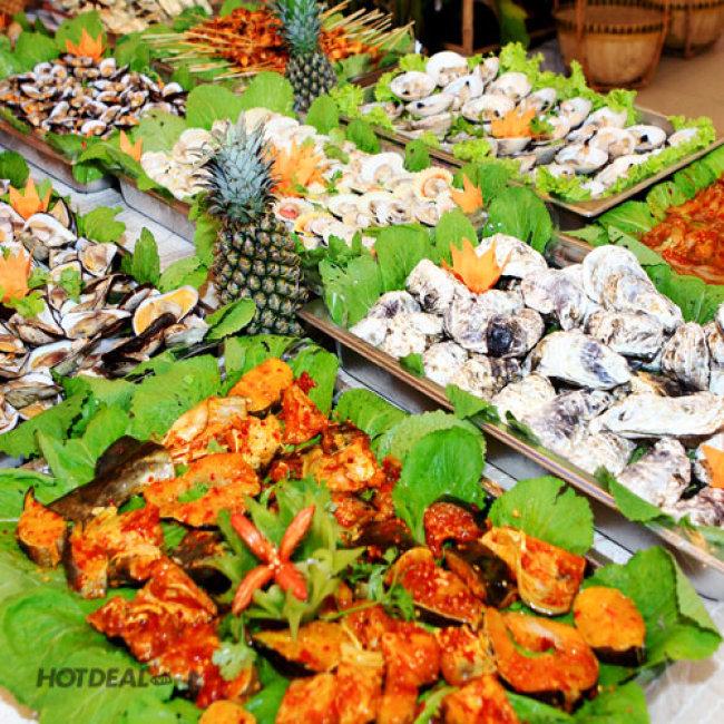 Buffet Tối Lẩu + Hải Sản + Ốc + Xiên Que + Nướng + Nước Uống...