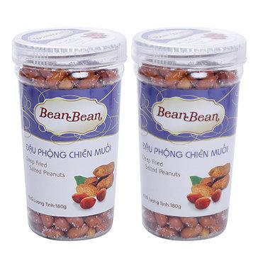 Combo 2 Hộp Đậu Phộng Chiên Muối Bean Bean 180g/Hũ