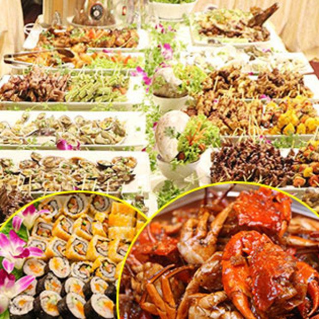 Buffet Tối T7, CN Hải Sản Cao Cấp, Bò Mỹ, - Free Nước,Kem, Trái...