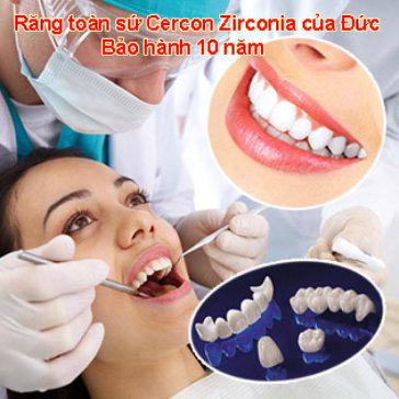 Răng Toàn Sứ Cercon Zirconia - Nha Khoa Đại Sứ