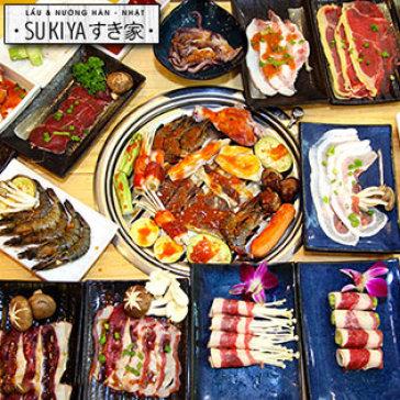 Buffet Tối Lẩu Nhật Hàn, Hải Sản & Bò Mỹ Nướng - Sukiya Kore Vincom Mega Mall