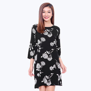 Đầm Suông Họa Tiêt Floral - Hàng Xuất Khẩu