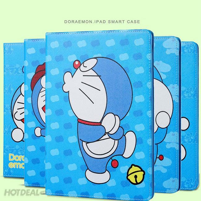 Bao Da iPad Air/ Air 2 Họa Tiết Doraemon Khay Dẻo Cao Cấp
