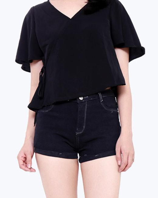 Quần Short Jean Nữ Lật Lai