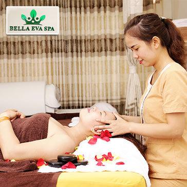 Massage Body, Foot Đá Nóng, Xông Hơi,Tẩy Tế Bào Chết Mặt + Đắp Mặt Nạ Collagen - Bella Eva Spa