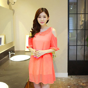 Đầm Oversize Tay Bèo Thời Trang