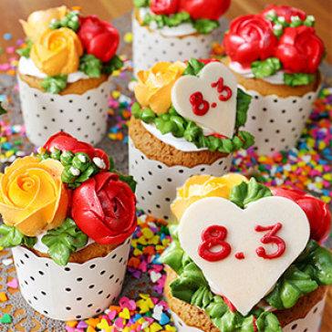 4G's Texas Bakery - Combo 06 Cupcake Hoa Hồng Qùa Tặng Đầy Ý Nghĩa Cho Dịp 8/3