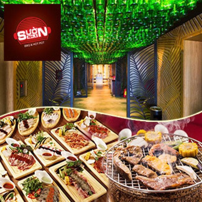 Buffet Trưa Bò Mỹ & Hải Sản Nướng Đẳng Cấp 5* View Phố Đi...