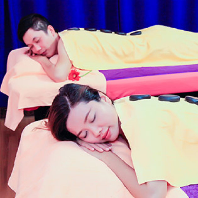 Couple – Massage Body Đá Nóng Cặp Đôi Châu Âu + Ngâm Chân + Massage...