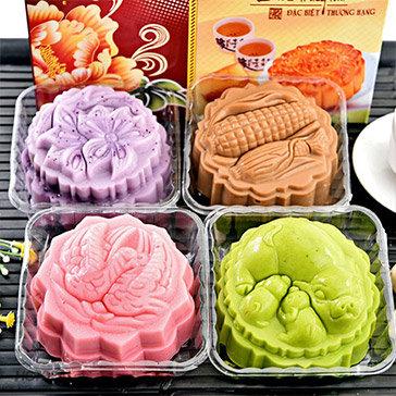 Combo 5 Khuôn Làm Bánh Trung Thu Rau Cau 3D, Nhận Xôi Loại Lớn