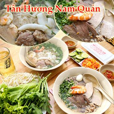 Combo 2 Hủ Tiếu Mực/ Hủ Tiếu Nam Vang Tô Lớn + 2 Trà Lạnh + 2 Khăn - Tân Hương Nam