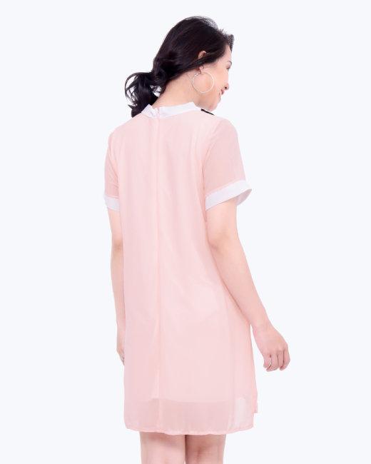 Đầm Suông Cổ Nơ Xinh Xắn