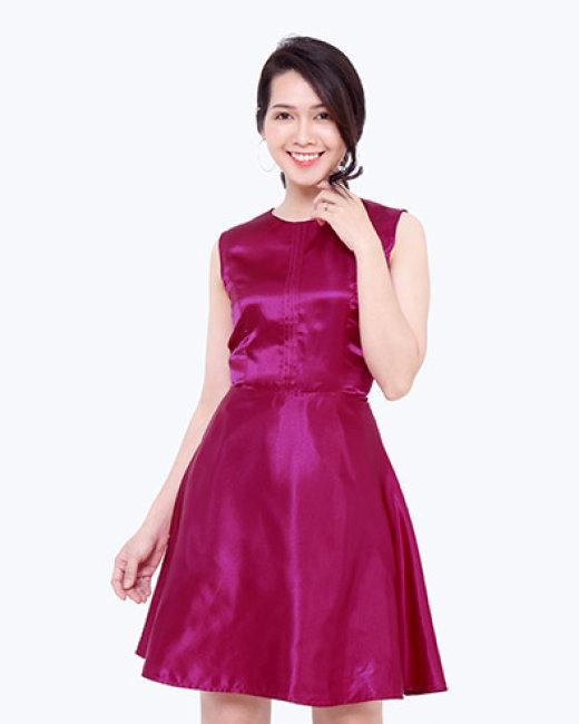 Đầm Xòe Xếp Viền Ly TH Lidobuy